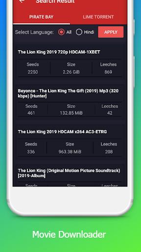 Free Movie Downloader  | Torrent & YTS 0.2.10 screenshots 4