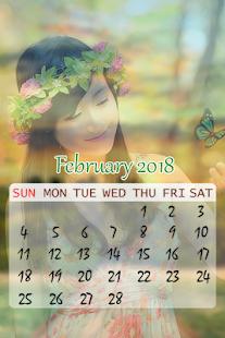Calendar Photo Frame 2018 : Calendar 2018 - náhled