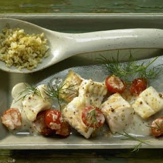 Pan-Fried Perch and Tomatoes.
