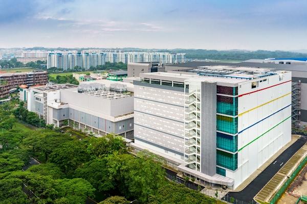 Exterior da instalação em Singapura