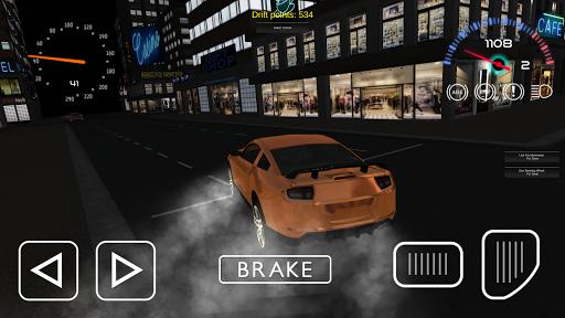 Night racing: Sport car