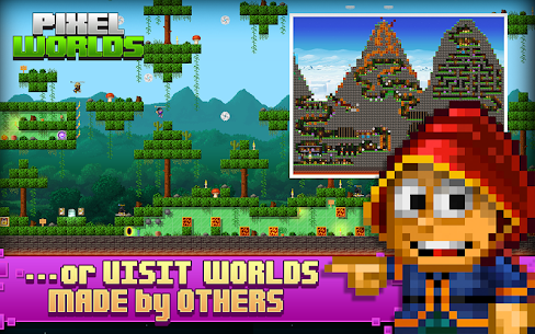 Pixel Worlds: MMO Sandbox Mod Apk Download For Android and Iphone 5