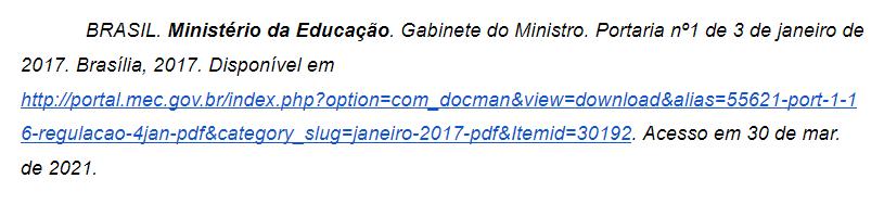 referência de site do governo