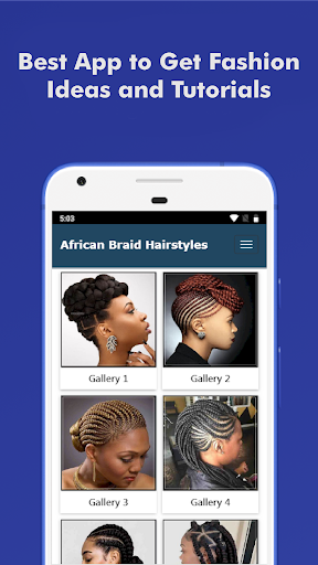 500+ Top African Braids Hairstyles Fashion Offline 5.0 screenshots 1