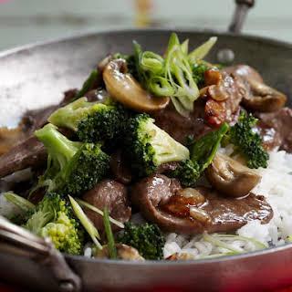 Braised Lamb with Broccoli.