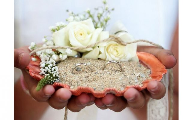 Ring Holder Shell Beach Wedding
