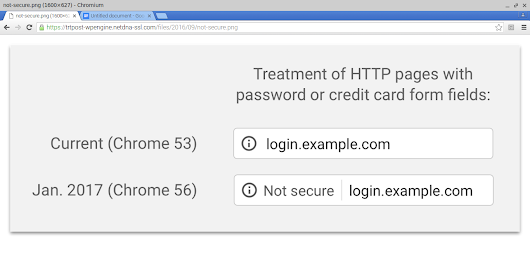 Get your website to https:// else chrome with brand your site as Not Secure