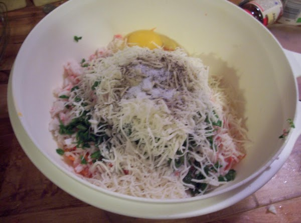 For the filling:  Combine all of the cheeses in a large mixing bowl....