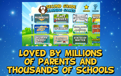 Second Grade Learning Games- screenshot thumbnail