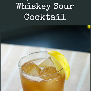 Classic Whiskey Sour Cocktail.