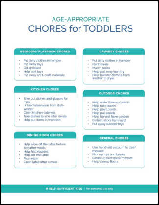 Age-Appropriate Chores for Toddlers