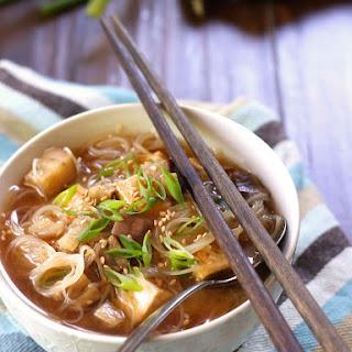 Japanese Eggplant Miso Noodle Soup.