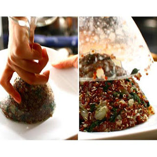 Thyme- Infused Red Quinoa With Lemon- Mustard Black Kale