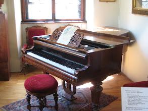 Photo: Dvorak's piano.  Fern and Janie got to play it.