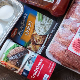 Slow Cooker Onion Soup Mix Meat Loaf {Freezer Meal Friendly}.