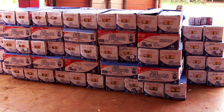 Photo: lots of milk for the school