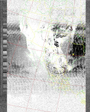 Photo: NOAA 19 northbound 34W at 30 Sep 2012 20:20:02 GMT on 137.10MHz, MB [sensor 4 (thermal infrared)] enhancement, Normal projection, Channel A: 2 (near infrared), Channel B: 4 (thermal infrared)