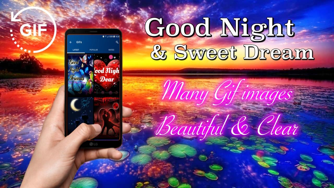Gif Good Night & Sweet Dream Wishes Love – (Android Apps