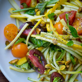 """Summer Squash """"pasta"""" With Fresh Tomatoes"""