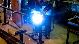 Photo: New rail fabrication.