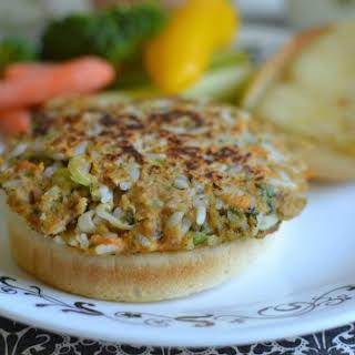 Tuna, Rice and Veggie Burger.