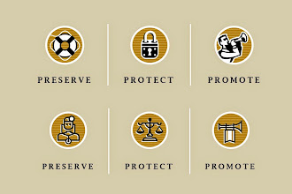 "Photo: Legal & Medical Professional Icons - ""Preserve, Protect, Promote"", Icon designs"