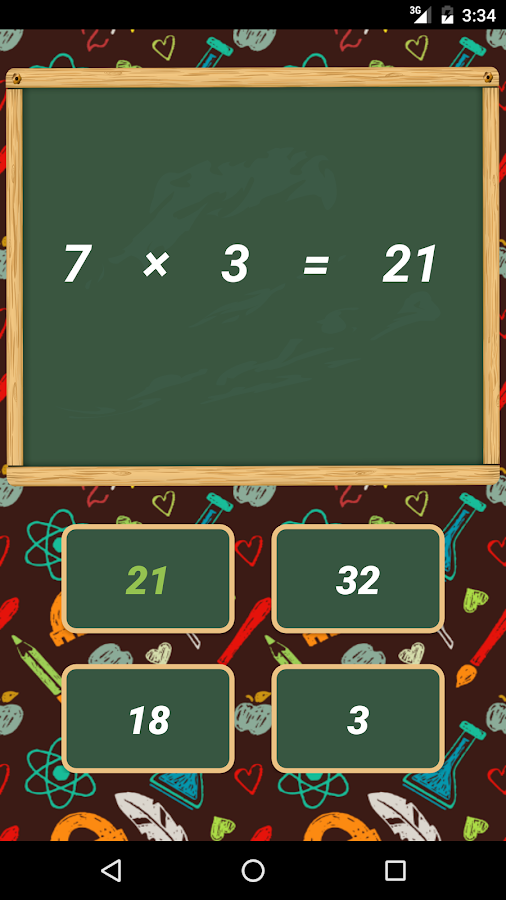 Multiplication Tables Learn- screenshot