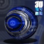 Blue Krome iconpack Next Theme Icon