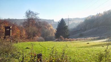 Photo: Die teilweise mit Bäumen aufgehübschte Waldschneise der Hochspannungsleitung im Funckenhause(ne)r Bachtal.