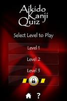 Screenshot of Aikido Kanji Quiz