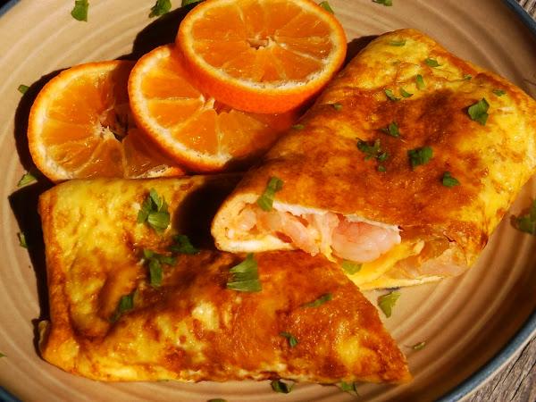 Kimchi Shrimp Omelette Recipe