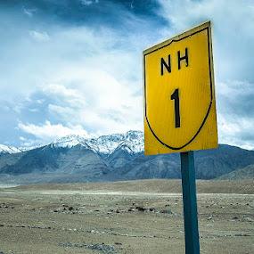 NATINAL HIGHWAY 1 INDIA  by Inderjit Singh - Landscapes Mountains & Hills ( leh, inderanim, ladakh, landscapes, hues )