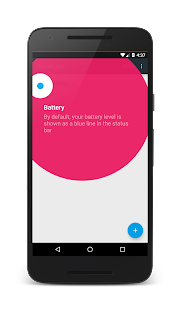 PowerLine: On screen battery, signal, data lines Screenshot