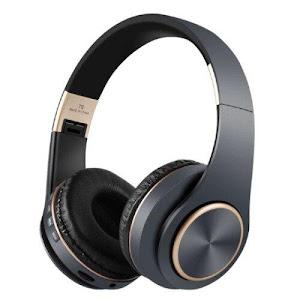 Casti Bluetooth T8 Stereo cu Microfon, Suport Card, Negru