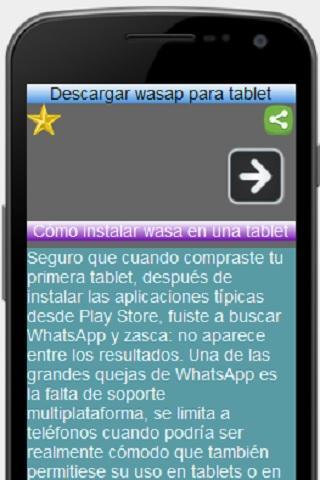Descargar wasap para tablet