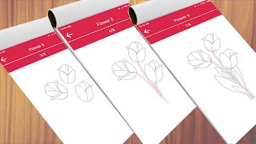 How to Draw Cute Flowers - screenshot thumbnail 01