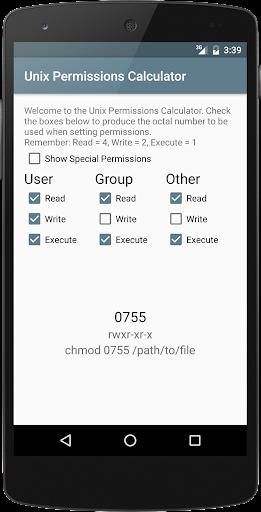 Unix Permissions Calculator