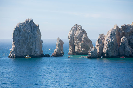 Cabo boats.jpg - Rock outcroppings at Land's End in Cabo.