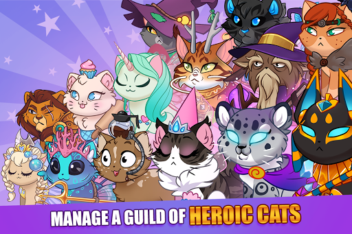 Castle Cats:  Idle Hero RPG apkpoly screenshots 11
