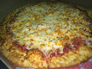 Photo: Buffalo Chicken Pizza Pie served daily at Pino`s Pizza :)