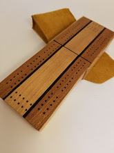 Photo: Traveling Cribbage Board Thank you Brian at Dryad Wood and Word works!