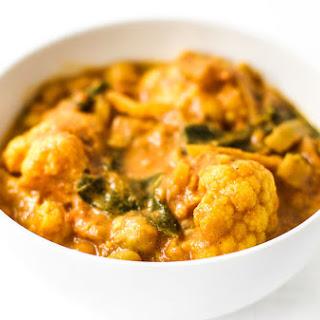 Coconut Cauliflower Chickpea Curry {Vegan}.