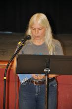 Photo: Janka Hobbs reads her poetry.