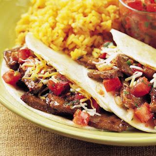 Mini Steak Tacos with Spicy Pico de Gallo.