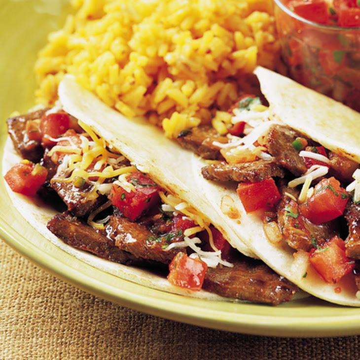 Mini Steak Tacos with Spicy Pico De Gallo Recipe