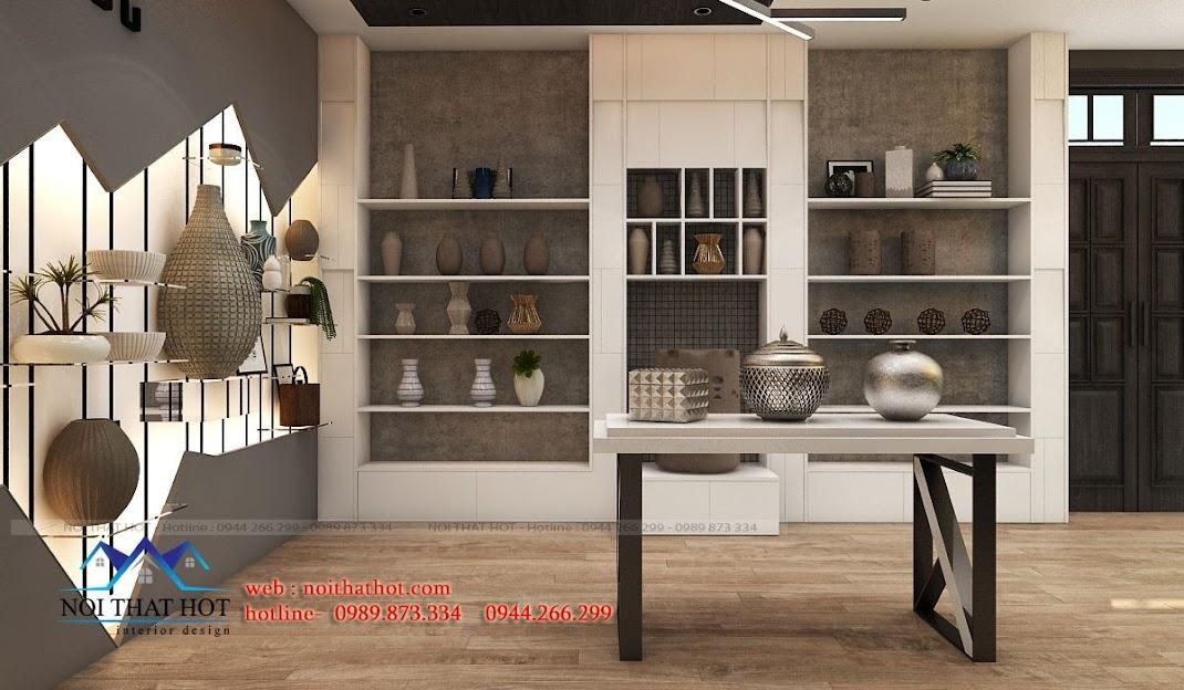 thiết kế showroom gốm sứ chất lượng cao