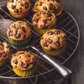 Chocolate Chip-Banana Bread Whole Grain Muffins