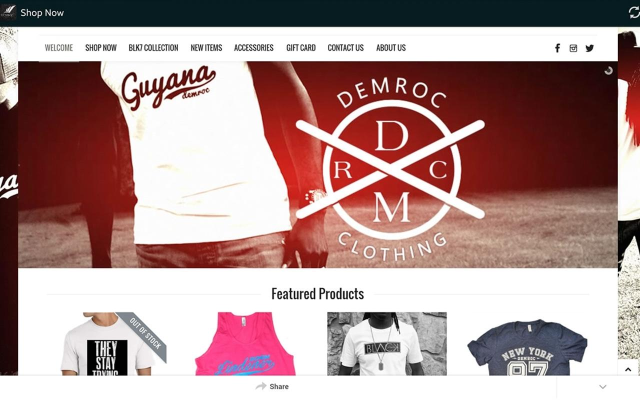 DemRoc Clothing- screenshot