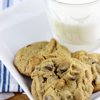 Gluten Free Peanut Butter Cookies with Chocolate Chips.