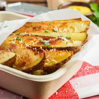 Seasoned Parmesan Potato Wedges.